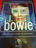 DAVID BOWIE THE BEST OF BOWIE 30 X 20 approx INCHES POSTER