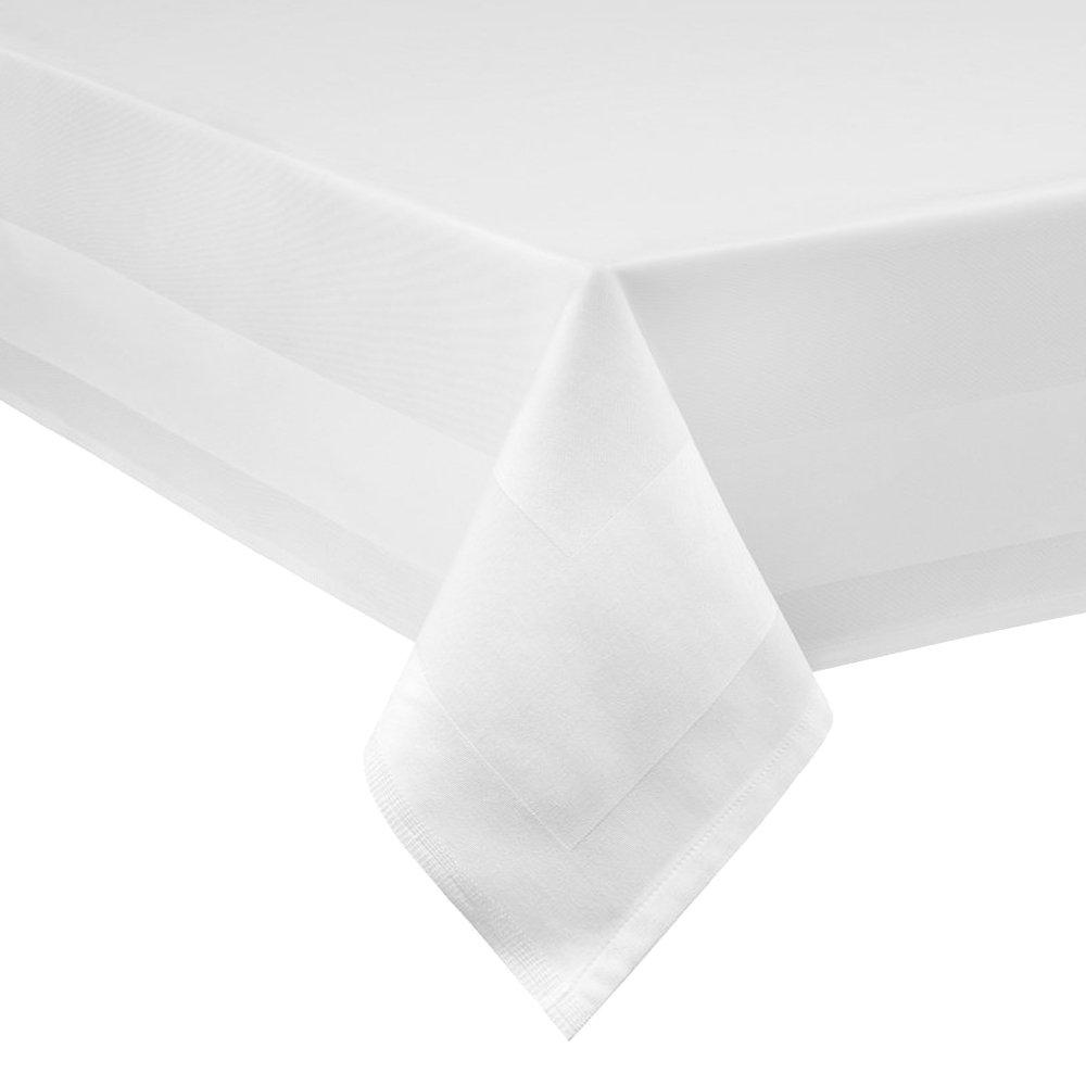 Damast Tischdecke weiß - 130 x 280 cm