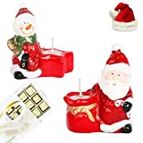 Ghasitaram Gifts Set Of 2 Santa Candles With Christmas Chocolate Box