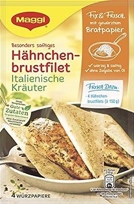 Maggi Fix mit gewürztem Bratpapier Hähnchenbrustfilet Ital.Kräuter, 18er Pack (18 x 23 g) von Maggi - Gewürze Shop
