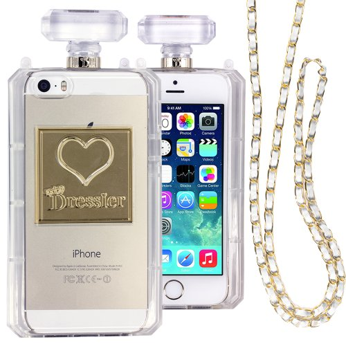 Dressier 5S Perfume Bottle Case With Chain For Iphone 5/5S - Clear