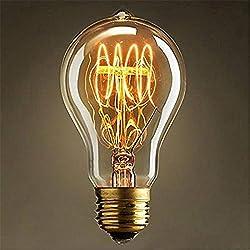 KINGSO E27 40W 220V A19(23 Anchors) Edison Lampe Warmweiß Vintage Stil Edison Glühbirne Retro Licht Vintage Bulb Antik