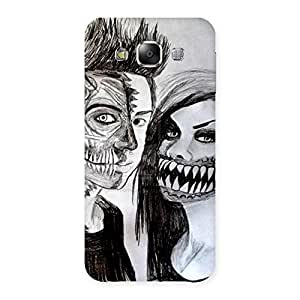 Unicovers Cute Zombie Couple Back Case Cover for Samsung Galaxy E5