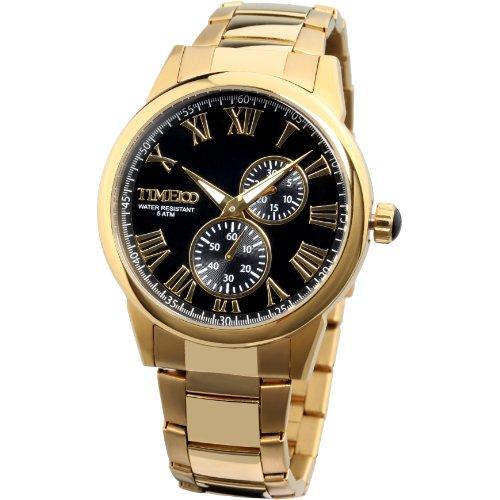 time100-mens-all-steel-luminous-black-dial-fashion-watch-w80004g01a