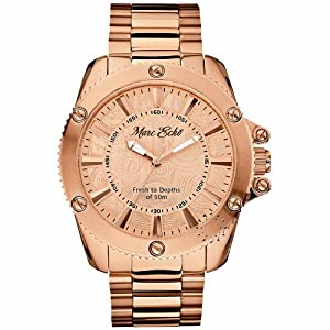 Marc Ecko Mens The Flash Collection Rose Gold Stainless Steel Bracelet Watch E22598G1