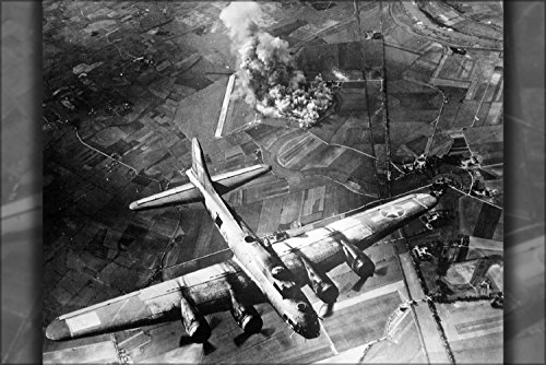 Precision Bombing Featured This Attack By 100 B-17 Flying Fortress Bombers On A Focke-Wulf Plant At Marienburg On Oct. 9, 1943 Poster