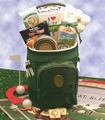 Golf Lovers - Golfing Around Gift Basket Bag