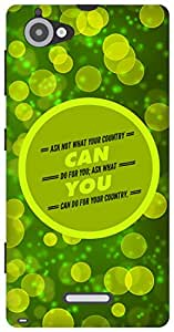The Racoon Grip Your Country hard plastic printed back case/cover for Sony Xperia L