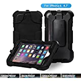 iPhone 6 Case,ACEGUARDER [FULL PROTECTION ] iPhone 6 Case /iPhone 6 Plus Case Armor Defender Hybrid Heavy Duty Hard Cover Shockproof Case (Iphone 6, Black)