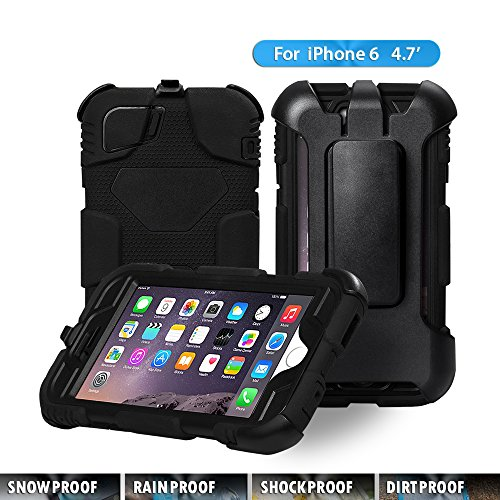 "Iphone 6 Waterproof Case, Aceguarder Apple Iphone 6 Waterproof Case -Apple Iphone 6 Fitted Waterproof Shock Proof Dust Proof Dirt Proof Snow Proof Hard Shell Cover Case for Iphone 6 4.7"" (Not for Ipho"