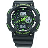 ALIKE Ak1499 Double Movement 50m Water Resistant Shock Resistant Unisex Analog Sports Wrist Watch with Backlight Display - Green