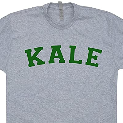 Kale T Shirt University Vegetarian Tee Vegan Yeah Funny Recycle Yale Yoga Organic Mens Womens Kids Shirtmandude