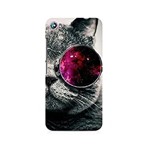 Ebby Classy Glassy Cat Premium Printed Case For Micromax Canvas Fire 4 A107