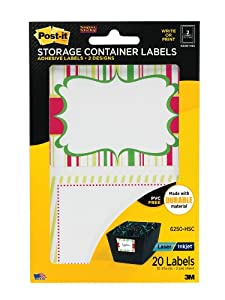 Amazon.com : Post-it Holiday Storage Container Labels, 2-3 ...