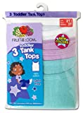 Fruit of the Loom Girls 2-6x Toddler 3 Pack Wardrobe Tank
