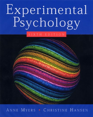Experimental Psychology (Available Titles CengageNOW) PDF