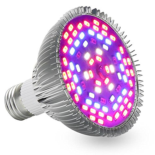 LVJING Full Spectrum 50W Led Grow Light Bulb E27 Base 78pcs 5730smd Red B