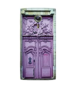 Purple Door Alcatel One Touch Flash 2 Printed Back Cover