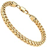 FIBO STEEL 6mm Wide Curb Chain Bracelet for Men Stainless Steel High Polished,8.5""
