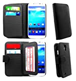 Htc One M8 Double Card Slot Black Premium Leather Book Magnetic Flip Wallet Case Cover Pouch With Picture Holder Plus Screen Protector & Screen Polishing Cloth NWNK13 (TM)