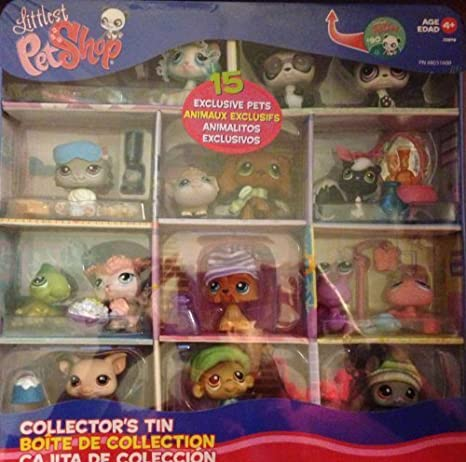 Littlest Pet Shop LPS Exclusive Collectors Edition Tin with 15 Pets by Hasbro