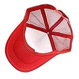 Pokemon-Go-Sombrero-Gorro-Rojo-bordado-de-malla-Strapback-One-size-round