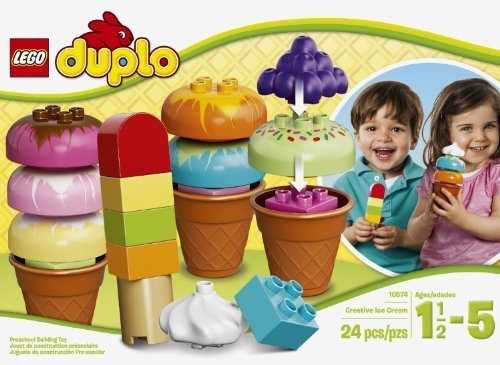 LEGO DUPLO Creative Ice Toy for Kids (24pcs) Figures Building Block Toys (Duplos Ice Cream compare prices)