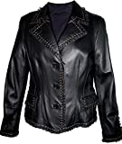 Paccilo tailoring Women 4015 PETITE Lamb Leather Short Blazer by NYC Leather Factory Outlet