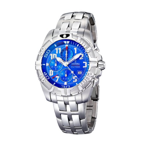 FESTINA Sport 16095/1 - Reloj unisex de cuarzo, correa de acero inoxidable color plata