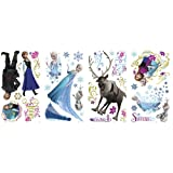 Frozen Peel and Stick Wall Decals and Snowflake Decal Set