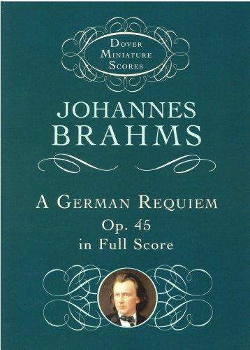 ブラームス: ドイツ・レクイエム Op.45/ドーヴァー社小型スコア