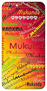 Mukunda (Lord Krishna, Precious stone) Name & Sign Printed All over customize & Personalized!! Protective back cover for your Smart Phone : Samsung Galaxy Note-5