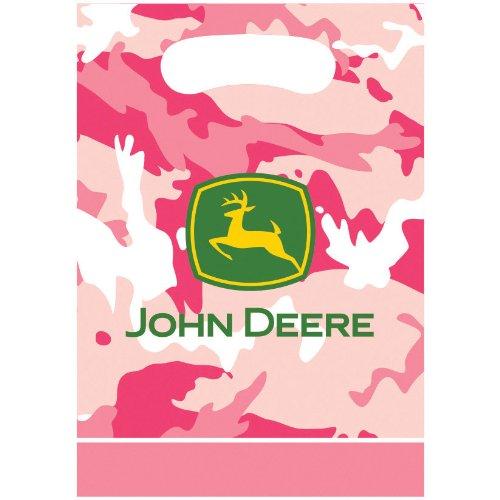 John Deer Pink Loot Bags (8ct) - 1