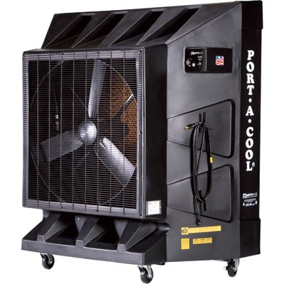 Port-A-Cool PAC2K36HPVS 36-Inch Portable Evaporative Cooling Unit, 10100 CFM, 2600 Square Foot Cooling Capacity, Variable Speed, Black