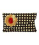 SAISHA Women's Handbag ( Black & Gold )