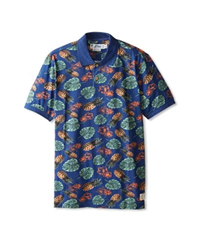 Fresh Men's Allover Leaf Print Polo