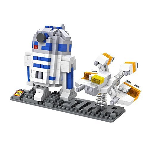 LOZ Star Wars Diamond Nano-Block 2 pc set- R2D2 & Fighter with BOX!