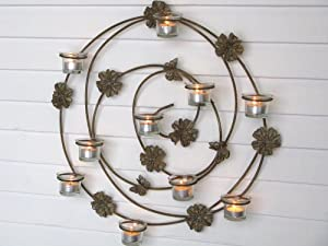 Floral Wall Sconce/wall Art