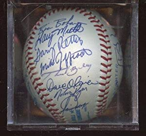 1990 Texas Rangers Team Signed OAL Brown Baseball 26 Signatures JSA LOA - Autographed... by Sports+Memorabilia