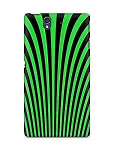 Amez designer printed 3d premium high quality back case cover for Sony Xperia Z (Optical illusion lines)