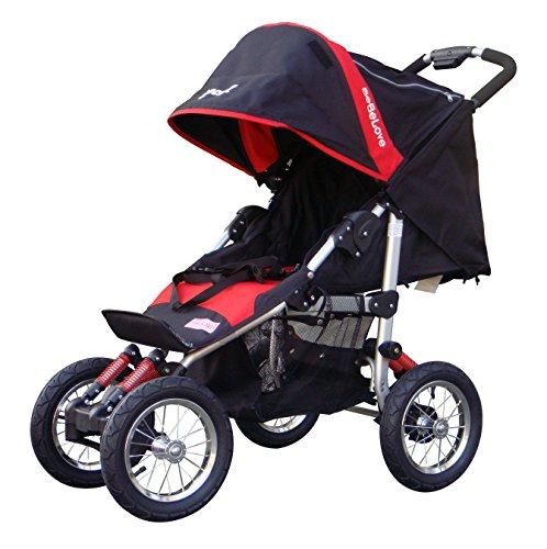 BeBeLove USA Deluxe Jogging Stroller, Red