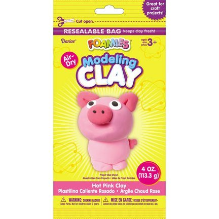 Hot Pink Modeling Clay - 1