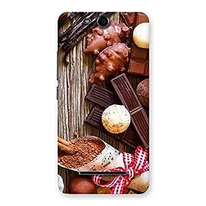 Impressive Chocolate Candies Multicolor Back Case Cover for Micromax Canvas Juice 3 Q392