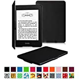 Fintie Kindle Paperwhite SmartShell Case - The Thinnest and Lightest Cover for All-New Amazon Kindle Paperwhite (Fits All versions: 2012, 2013, 2014 and 2015 New 300 PPI), Black