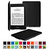 Fintie Kindle Paperwhite SmartShell Case - The Thinnest and Lightest Leather Cover for All-New Amazon Kindle Paperwhite (Fits All versions: 2012, 2013, 2014 and 2015 New 300 PPI), Black