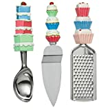 3 Piece set Grater, Cake Slice, Ice Cream Scoopby PRIME FURNISHING