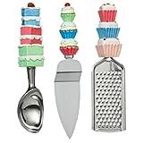 3 Piece set Grater, Cake Slice, Ice Cream Scoopby PRIME FURNISHING