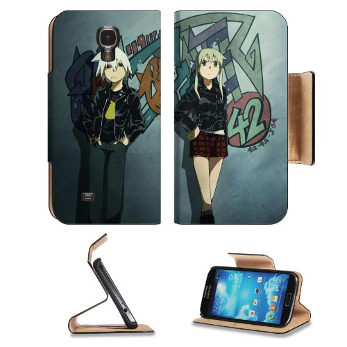 Soul Eater Character Art Samsung Galaxy S4 Flip Cover Case With Card Holder Customized Made To Order Support Ready Premium Deluxe Pu Leather 5 Inch (140Mm) X 3 1/4 Inch (80Mm) X 9/16 Inch (14Mm) Liil S Iv S 4 Professional Cases Accessories Open Camera Hea