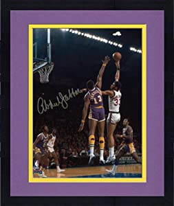 Framed Milwaukee Bucks Kareem Abdul-Jabbar Autographed 8 x 10 Photo vs. Los Angeles... by Sports Memorabilia
