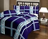 Snoopy Double Bed Navy Blue Pattern Comforter, Quilt (250 GSM)